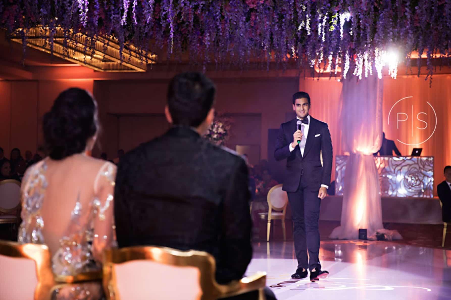 Fontainebleau Miami luxury wedding audio visual lighting