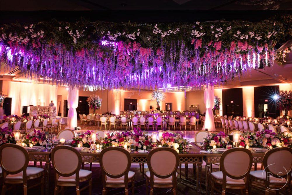 Fontainebleau Miami luxury wedding lighting Indian wedding reception