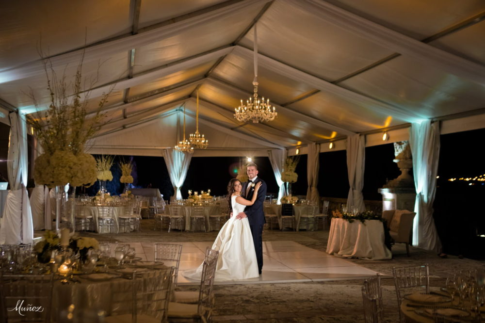 Chandeliers and lighting Vizcaya Museum wedding