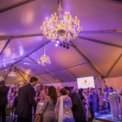 Chandeliers corporate event gala fundraiser Miami