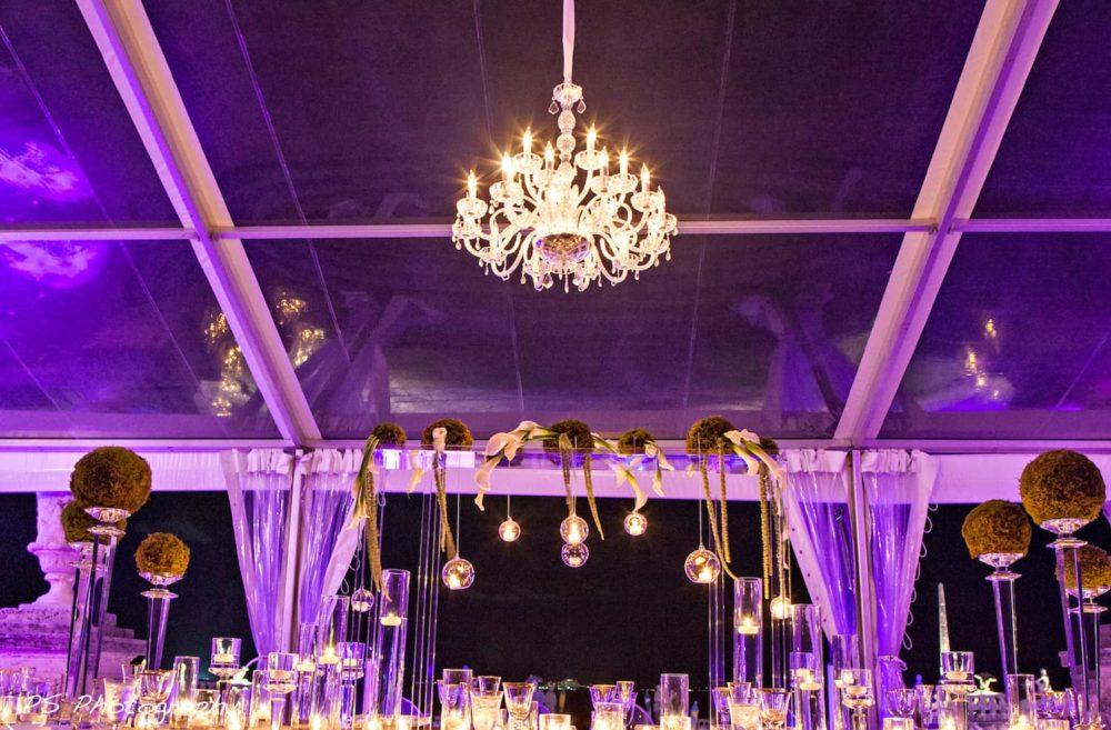 Chandeliers rent Miami Vizcaya Museum and Gardens wedding