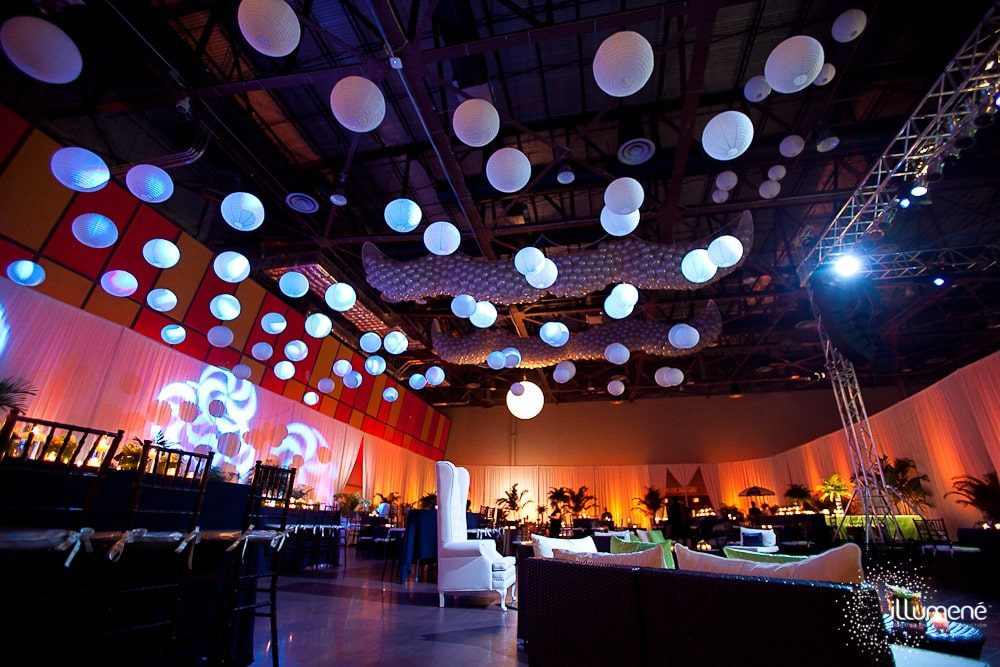 Corporate event lighting production Miami