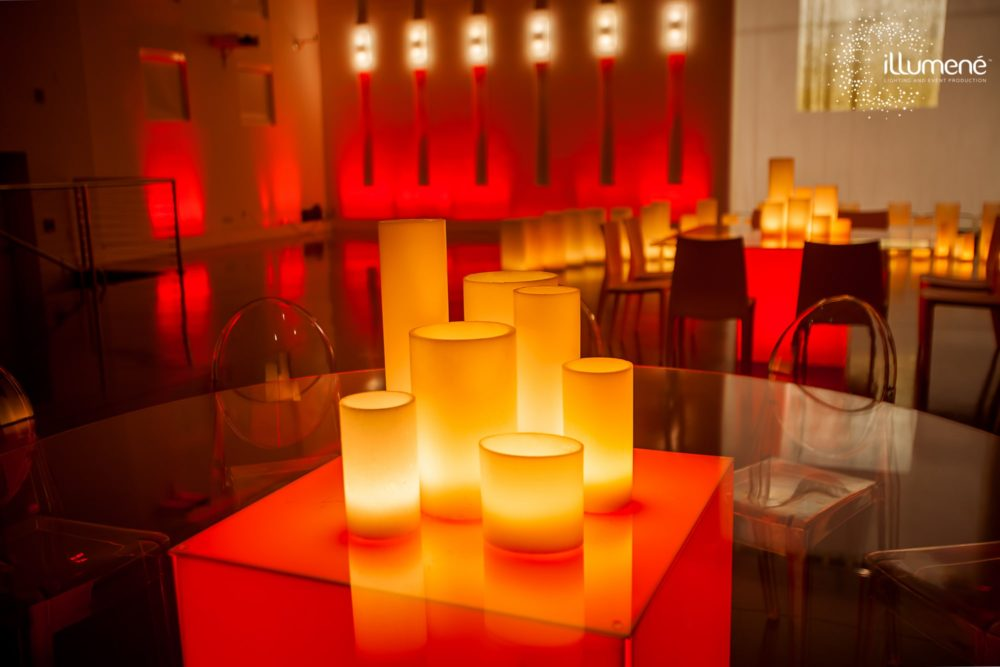 Corporate event decor lighting Miami