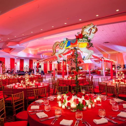 Circus theme Corporate event lighting production sound Miami