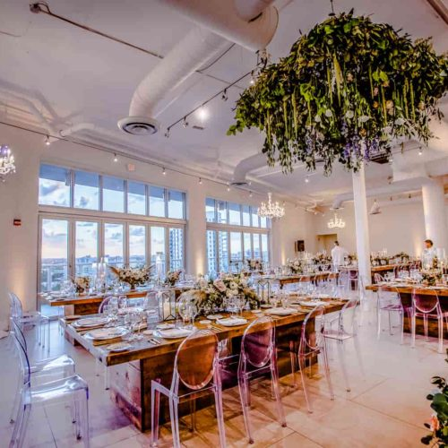 Fundraiser Miami chandeliers