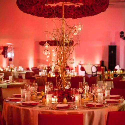 Gala fundraiser centerpiece lighting decor Miami