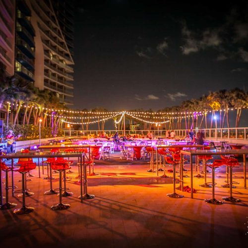 String lighting for a gala fundraiser in Fort Lauderdale