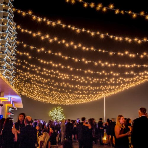 String lighting gala fundraiser event Miami