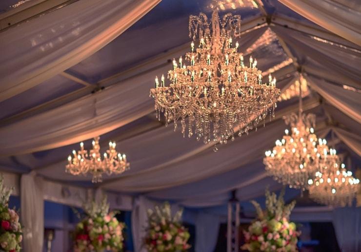 Vizcaya Museum and Gardens wedding lighting Miami