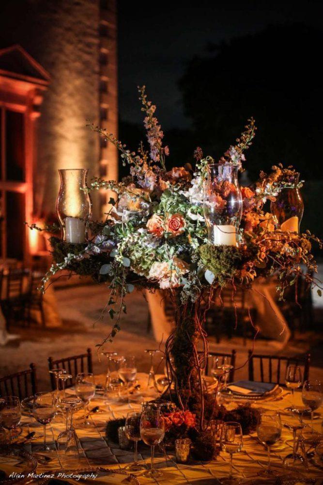 Wedding Vizcaya and gardens lighting