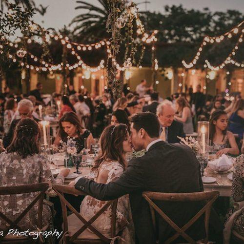 Fairchild Tropical Botanic Garden wedding rent string lights