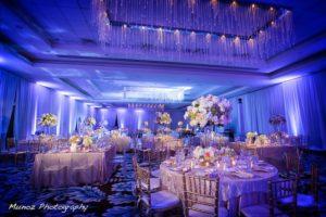Fontainebleau wedding lighting