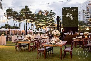 Fontainebleau wedding lighting string lights rental miami