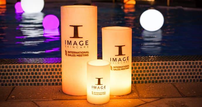 Large candles branded wax luminaries Miami - ILLUMENE ...