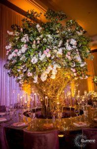 Mandarin Oriental luxury wedding lighting