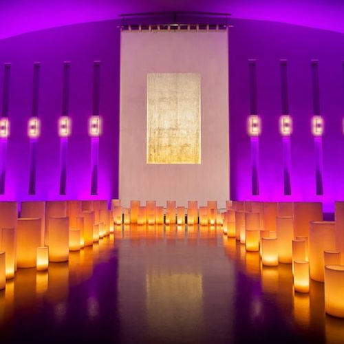 The Temple House wedding ceremony lighting