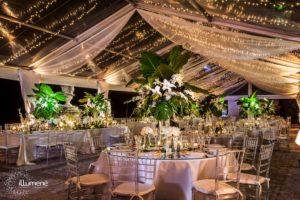 Vizcaya Miami wedding lighting christmas lights rent