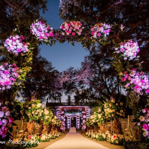 Vizcaya Museum and Gardens Miami wedding lighting
