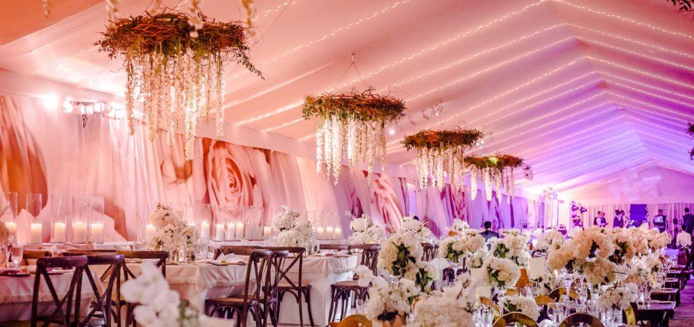 Vizcaya luxury wedding miami lighting