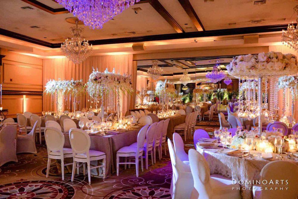 Bnai Israel wedding uplighting and pinspotting