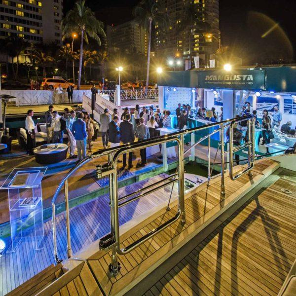 Boat show lighting Miami