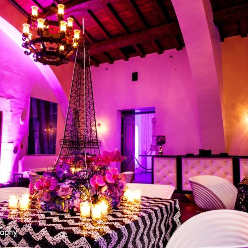 Bria Birdman celebrity birthday party Miami lighting and production