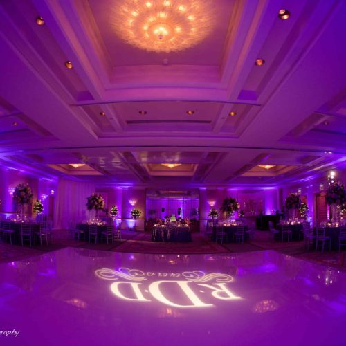 Dancefloor projection of the monogram
