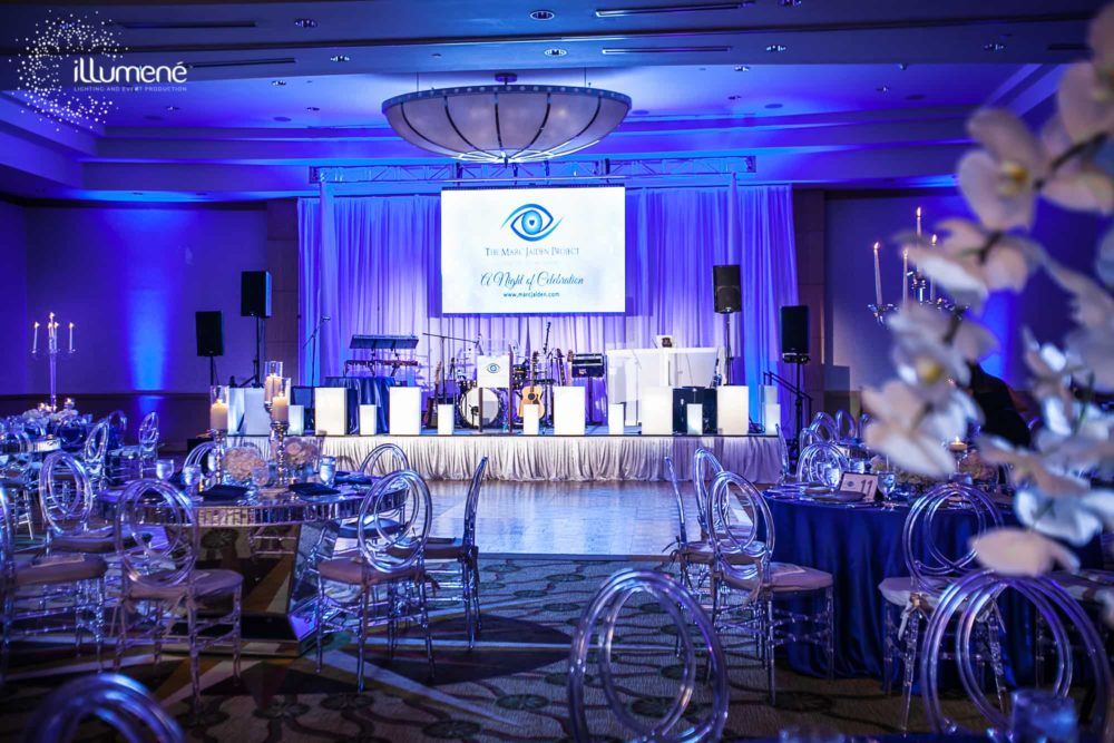Fundraising event Miami lighting and event production