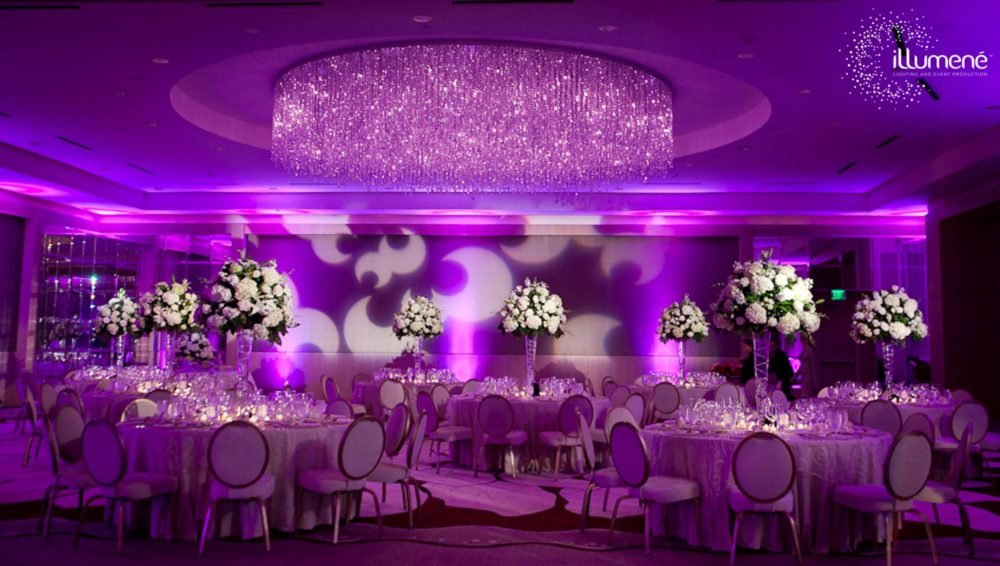 Half moon light projection Ritz Carlton Fort Lauderdale wedding
