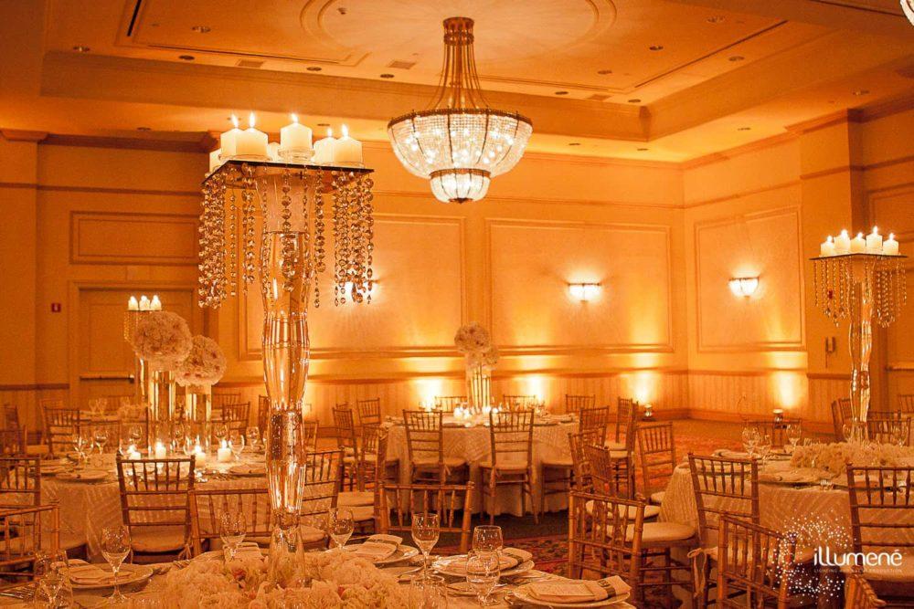 JW Marquis wedding uplighting
