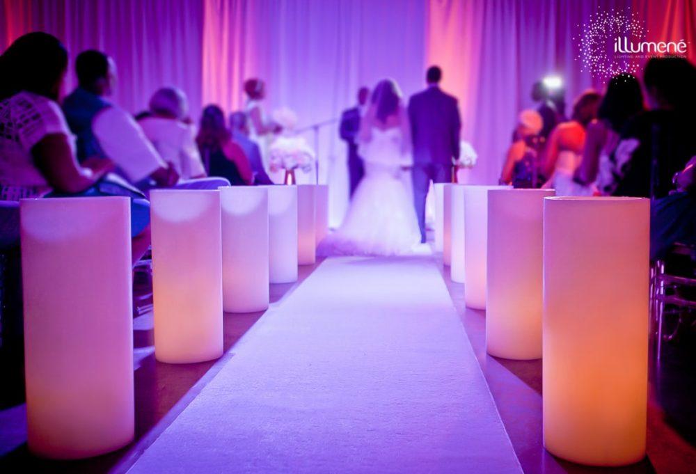 Large candles wedding Miami