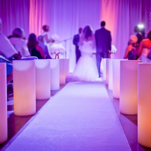 Large candles wedding Miami