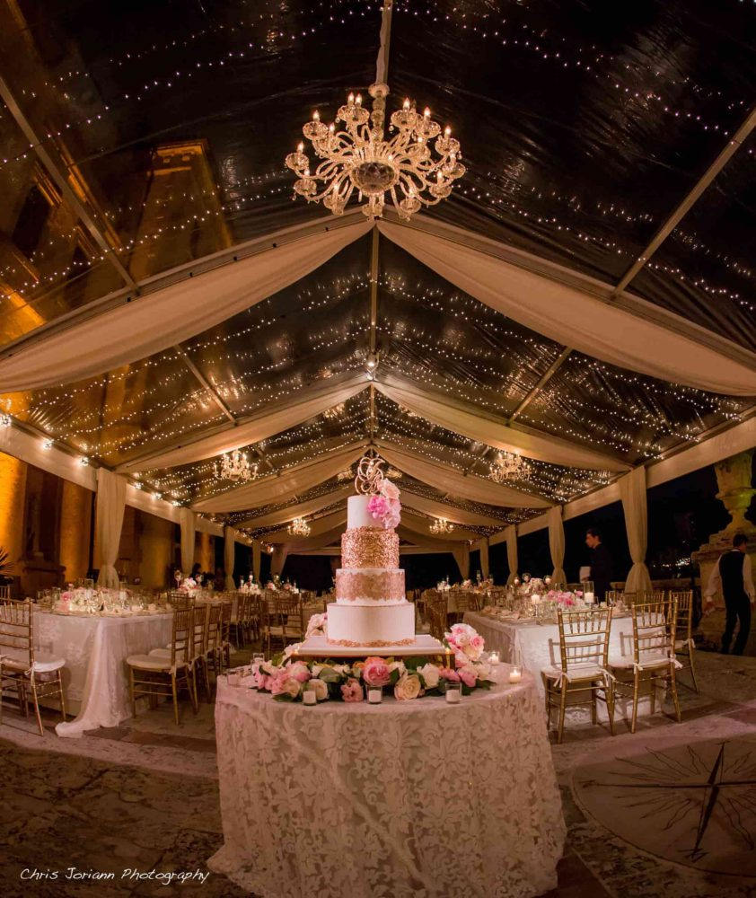 Large crystal chandelier rent Miami lighting wedding