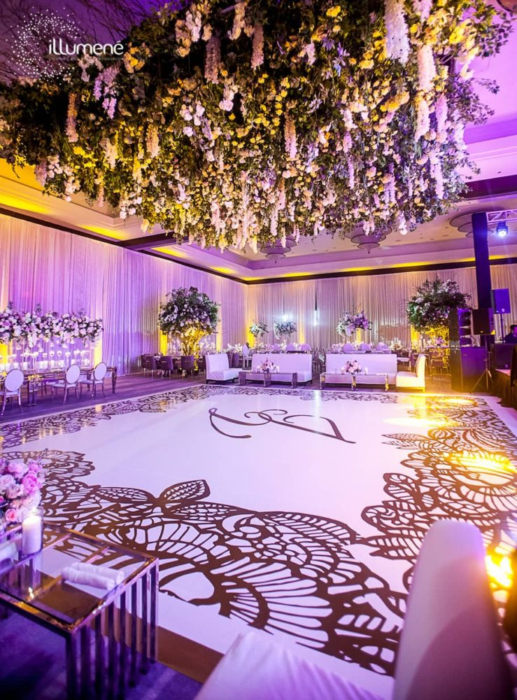 Luxury wedding Mandarin Oriental Miami uplighting