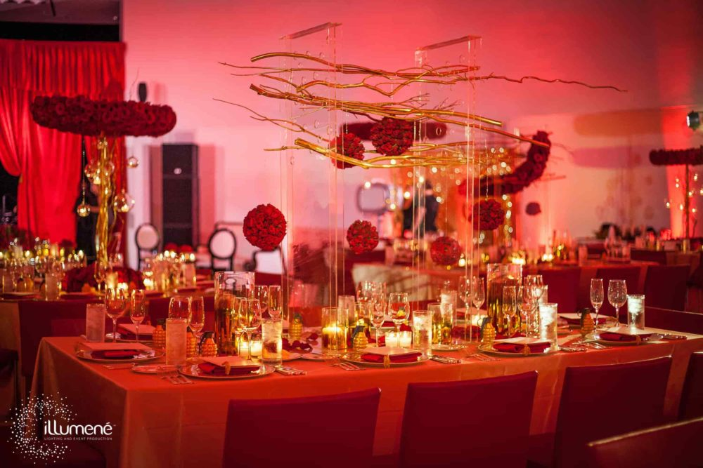 Miami rent uplights for a corporate party event wedding gala