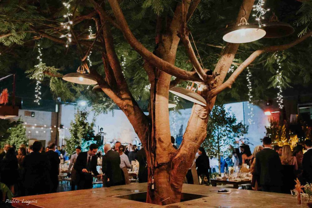 Mini lights tree Miami MAPS wedding