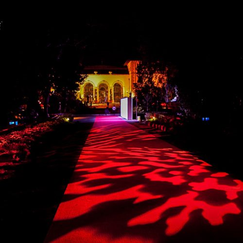 Patterns projection red carpet Vizcaya Museum and Gardens