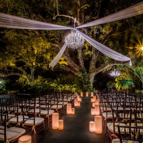 Rent chandelier and draping Miami