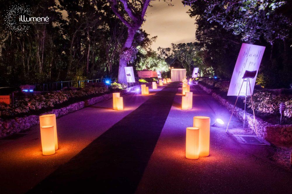 Rent large tall big candles luminaries wax candles Miami