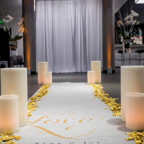 Rent large luminaries wax candles Miami