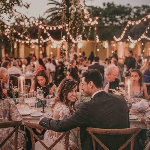 Rent string lights corporate party wedding Miami