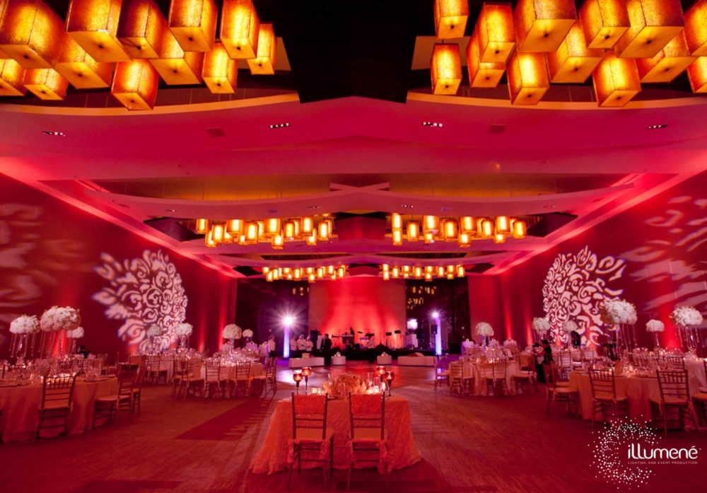 Roses light projection Miami gobo