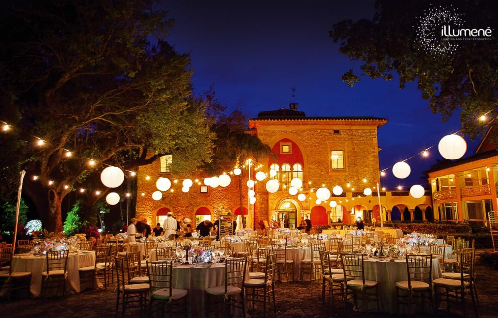 String lights and paper lanterns rent Miami
