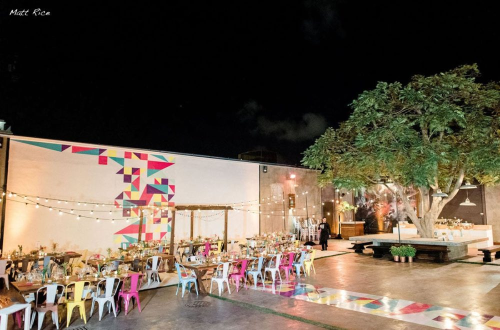 String lights cafe lights globe lights rent Miami MAPS wedding