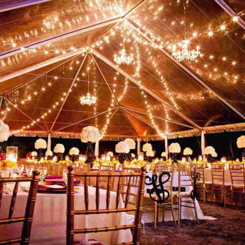 String lights under the tent rent Miami