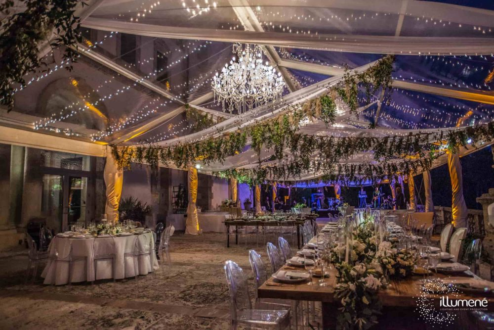 Tent lighting chandelier and twinkle fairy lights