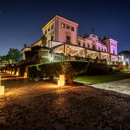 Vizcaya Museum wedding large candles rent luminaries