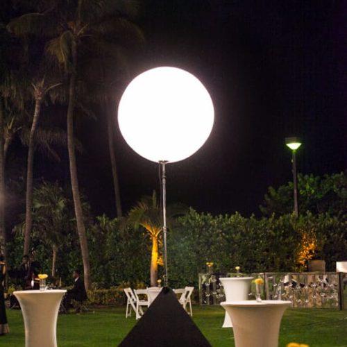 Airstar rent Miami moon balloon Fontainebleau Indian wedding, Sangeet lighting Miami