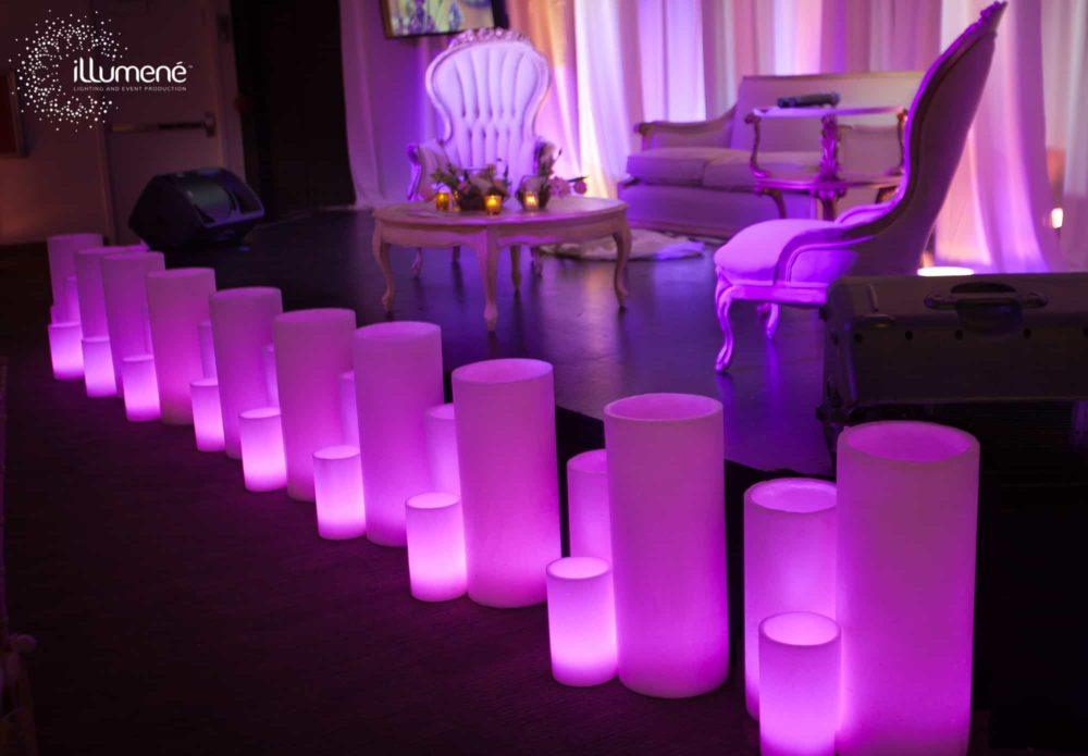 purple candles rent luminaries big wax candles