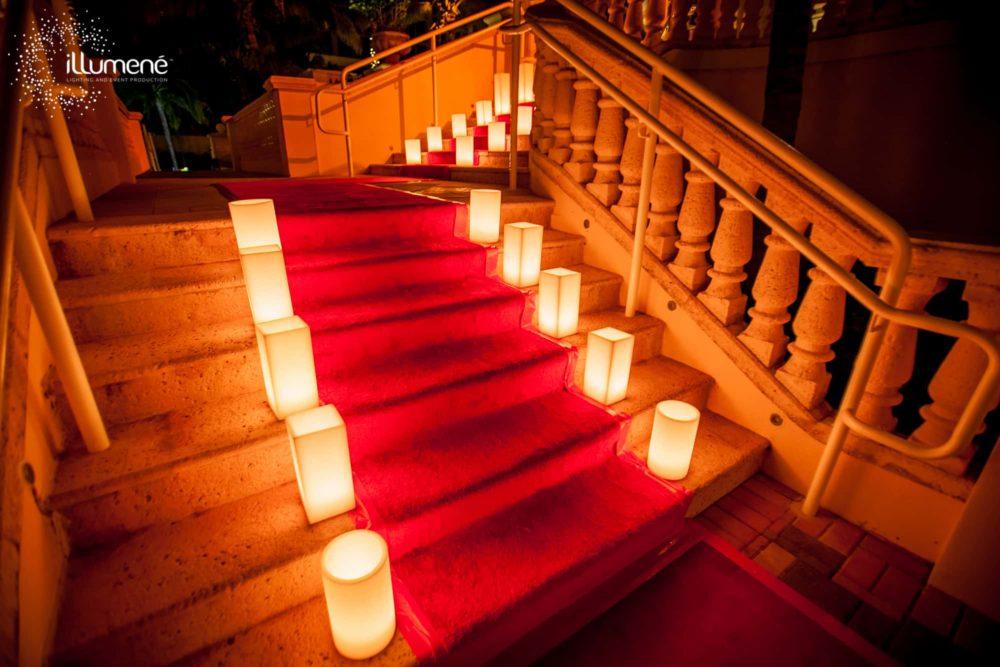red carpet candles large luminaries